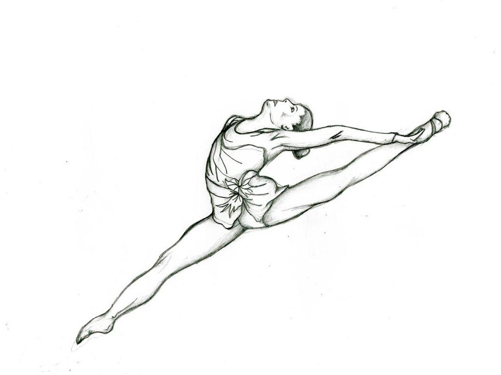 1024x768 Gymnast Drawing Outline