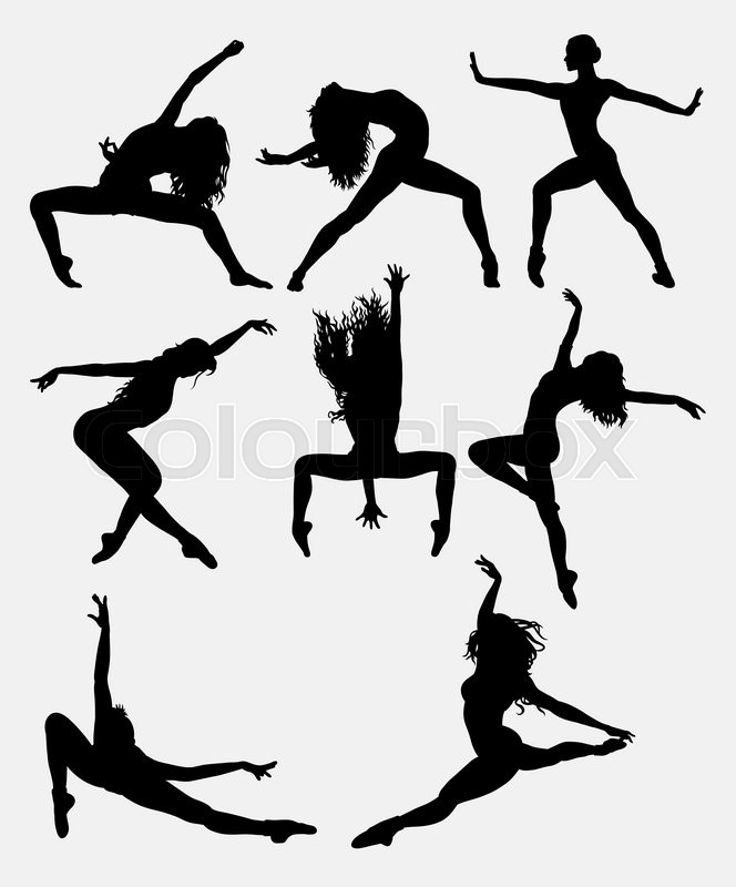 664x800 Beautiful Dancer Pose Performing Silhouette. Male And Female Dance