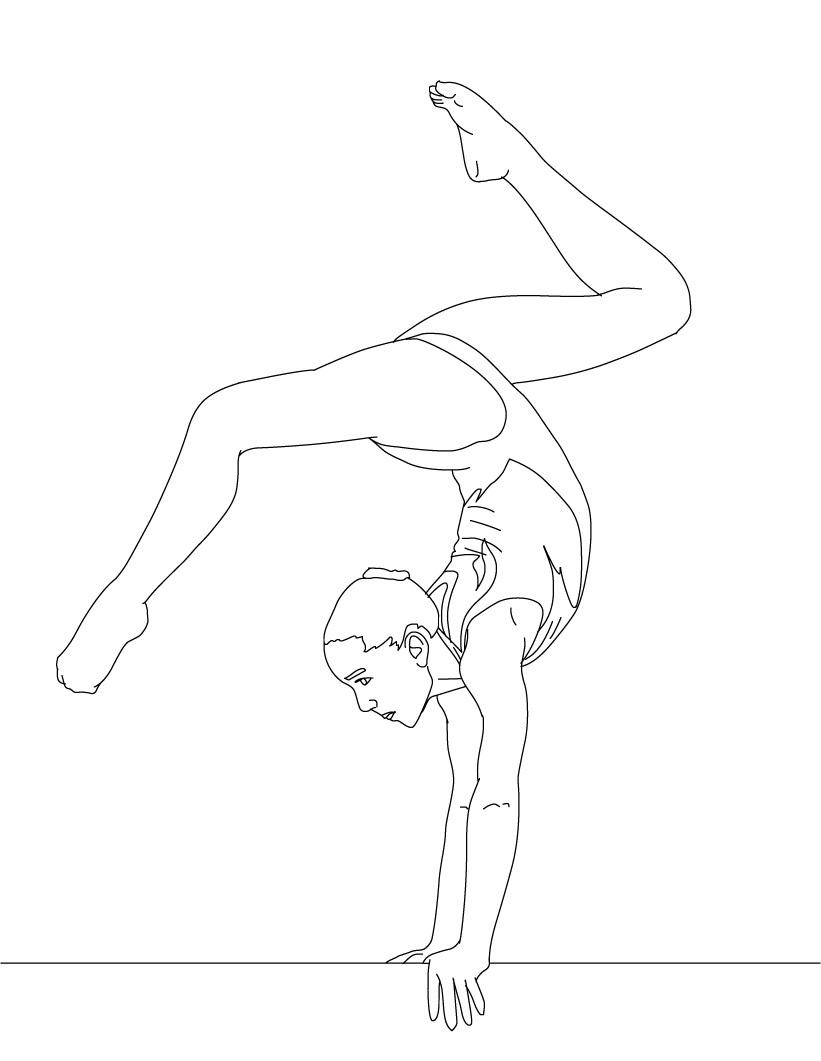 821x1061 Bonanza Gymnastics Coloring Pages Free Printable For Kids Gymnast
