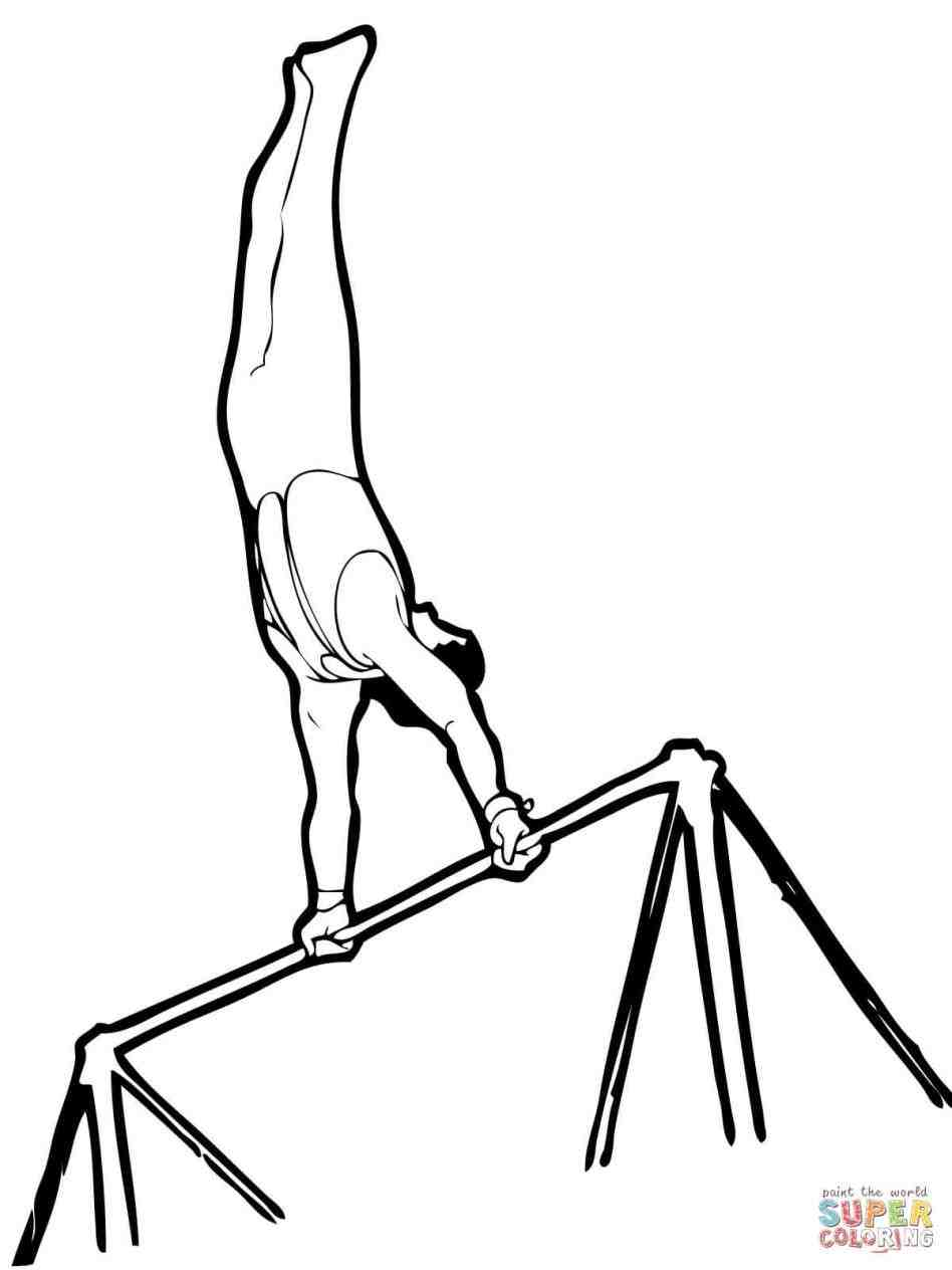 948x1264 Gymnastics Line Drawings Google Search. Gymnastics Coloring Sheets