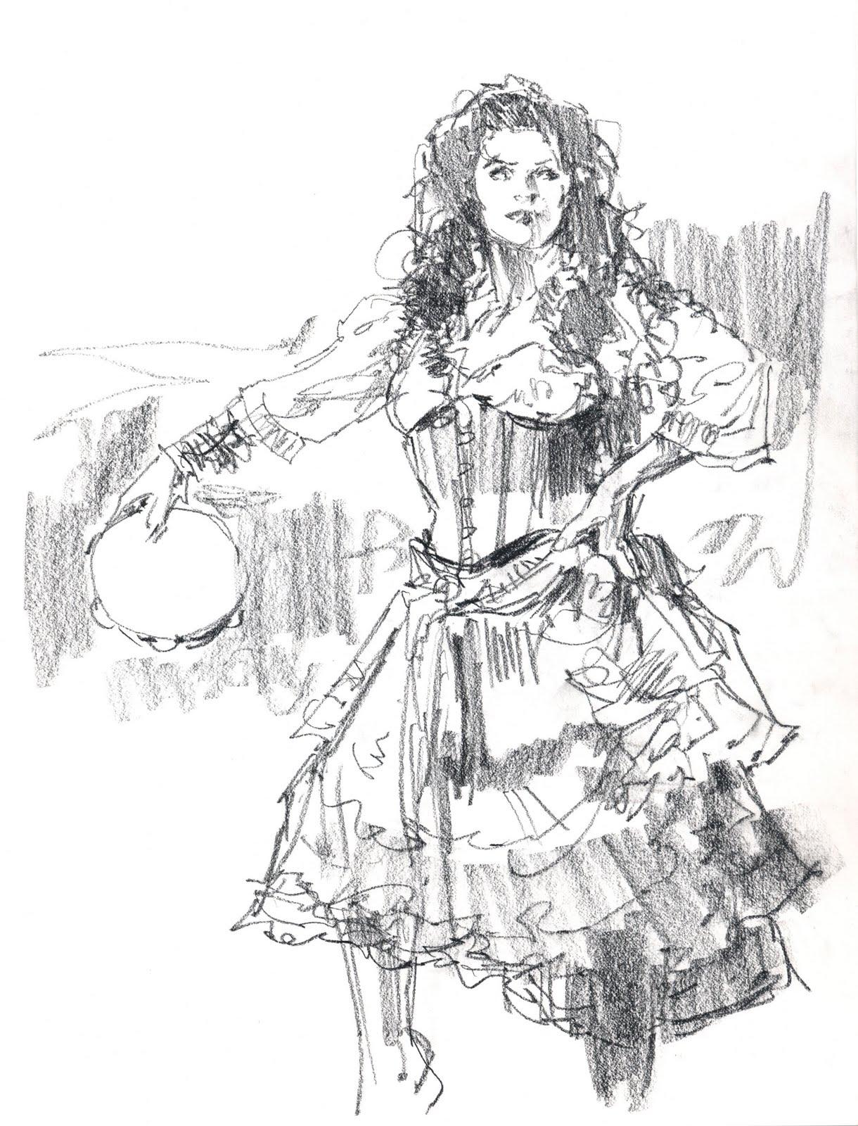Gypsy Girl Drawing