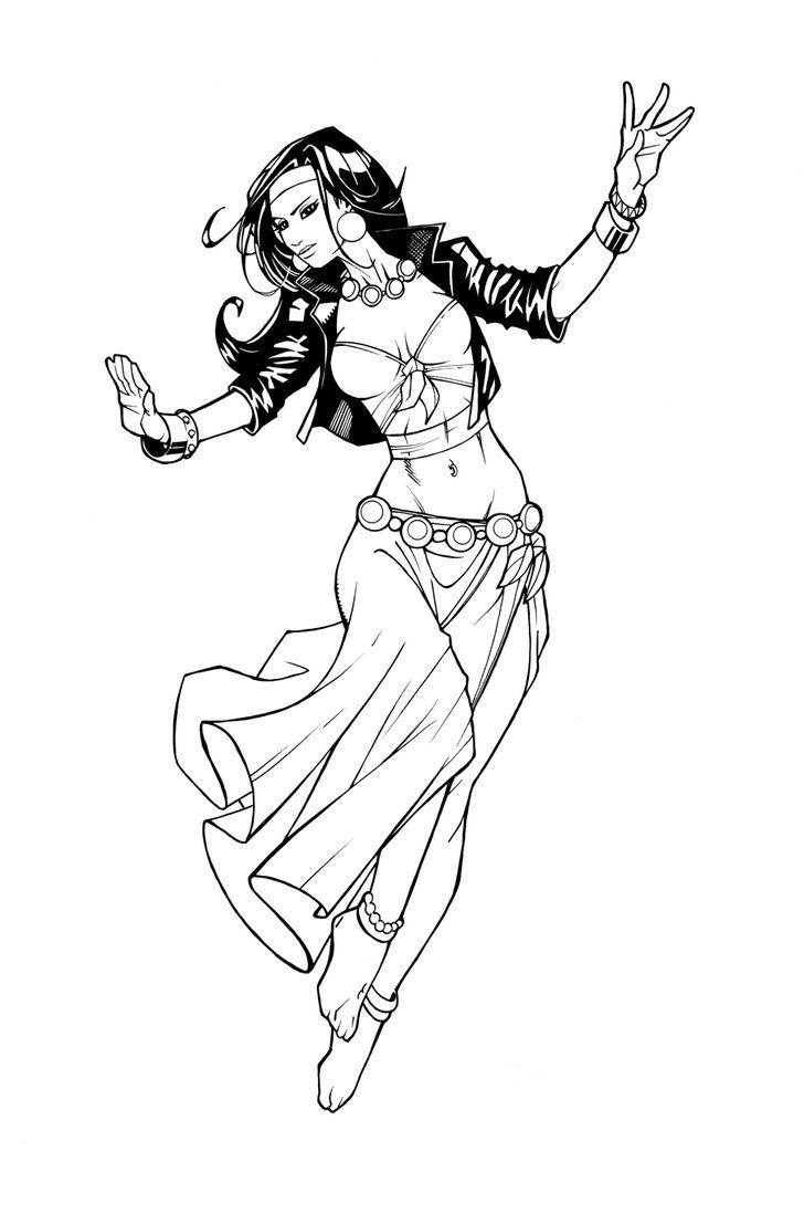 Gypsy Woman Drawing
