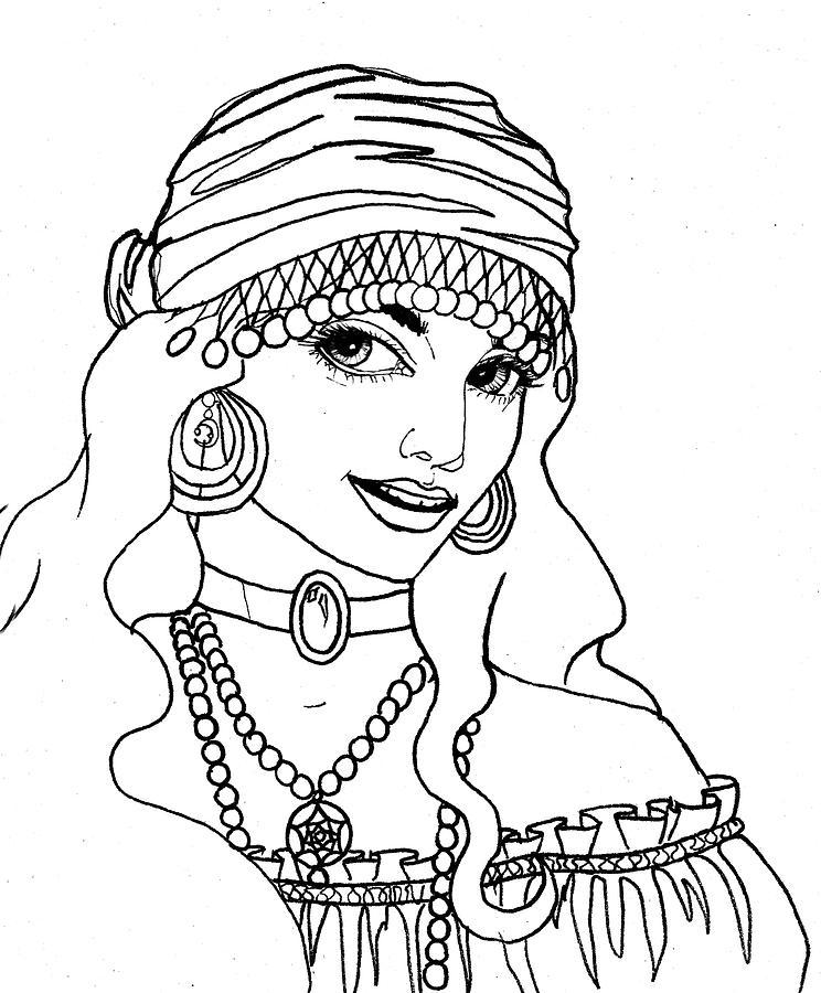 744x900 Gypsy Sketch Drawing By Scarlett Royal