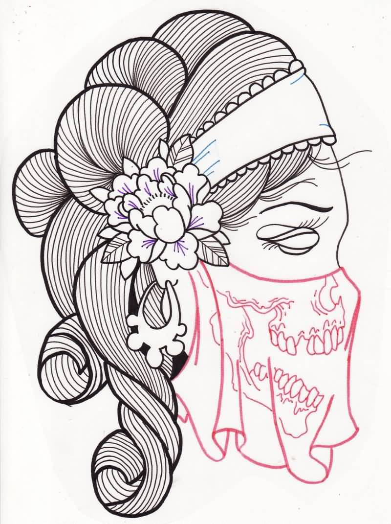 800x1071 Gypsy Tattoo Woman Sugar Skull Design
