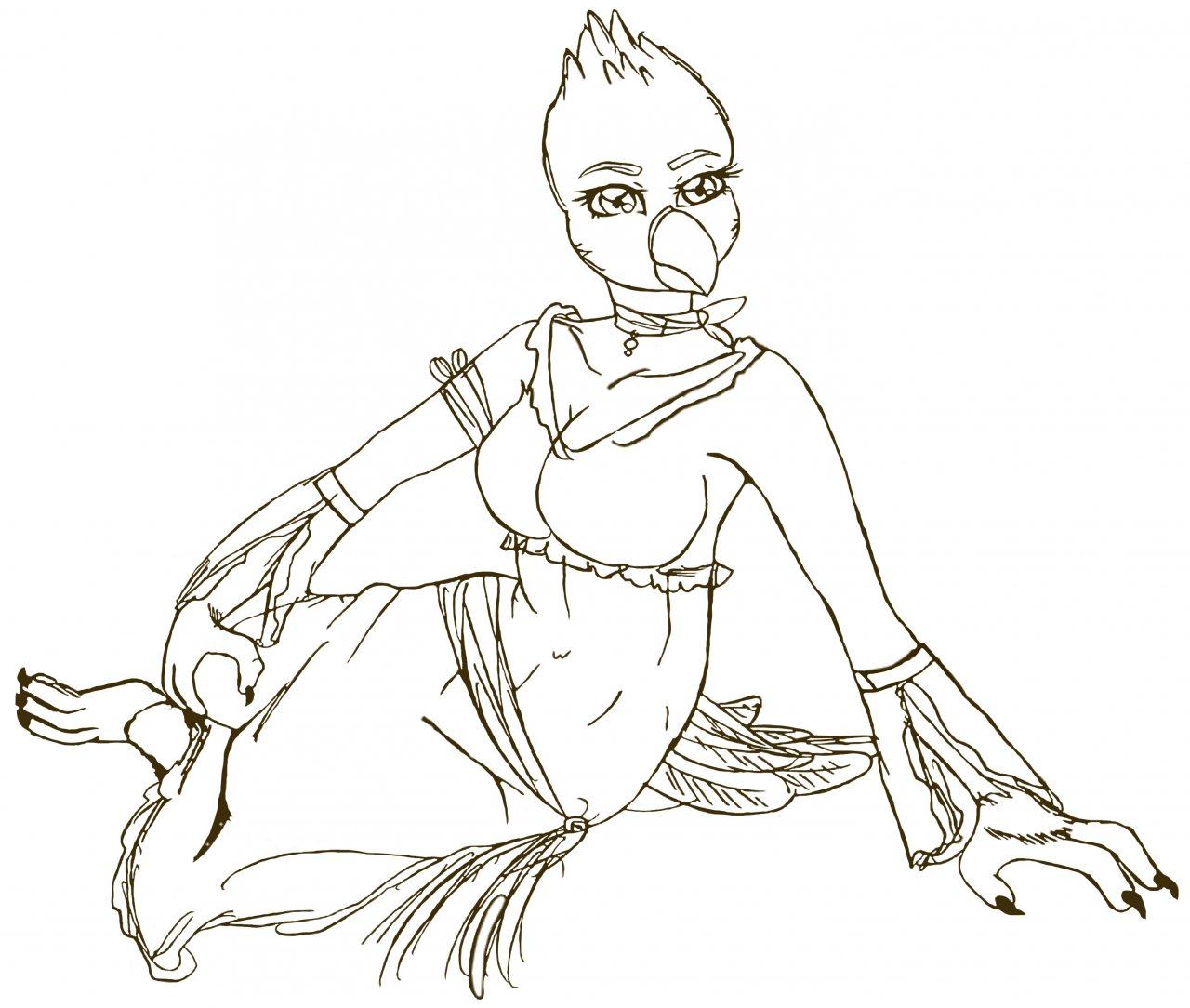 1280x1084 Gypsy Woman (Clean Sketch) By Hentairo