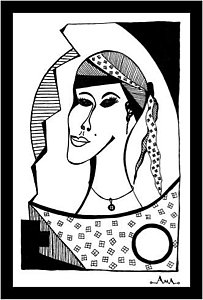 203x300 Gypsy Woman Drawings