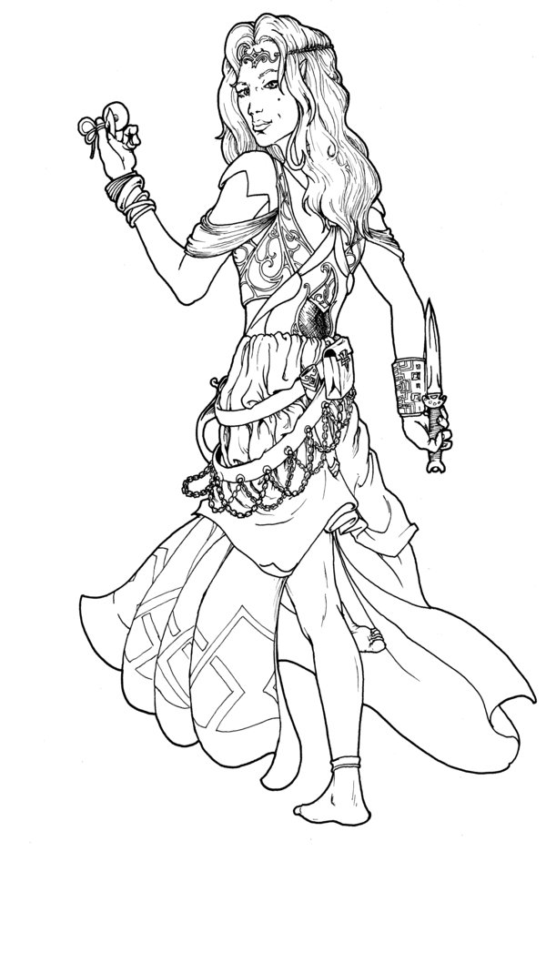 600x1047 Coloring Pages Graceful Gypsy Coloring Pages Budouka Gypsy Gypsy