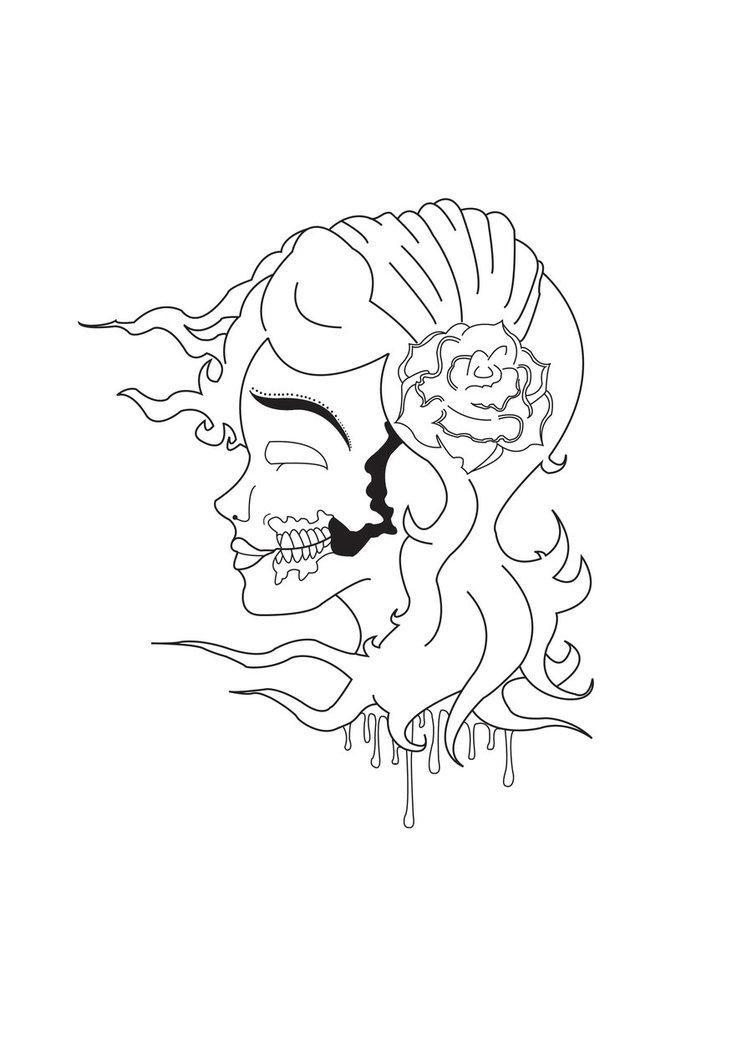 752x1063 Gypsy Woman Illustration Part 1 By Mjwdesign