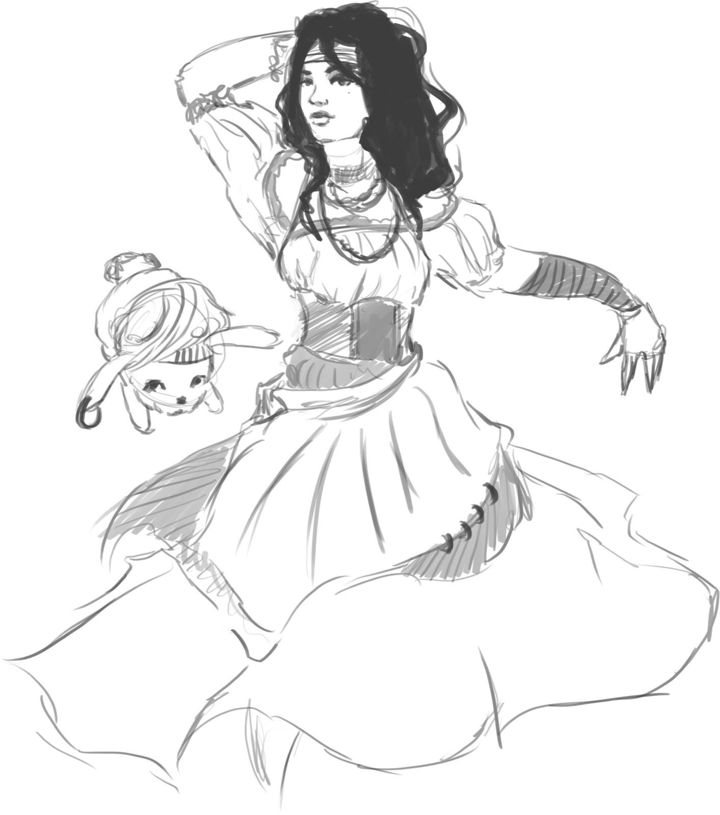 1414x1600 Concept) Gypsy Dancer Chang'E