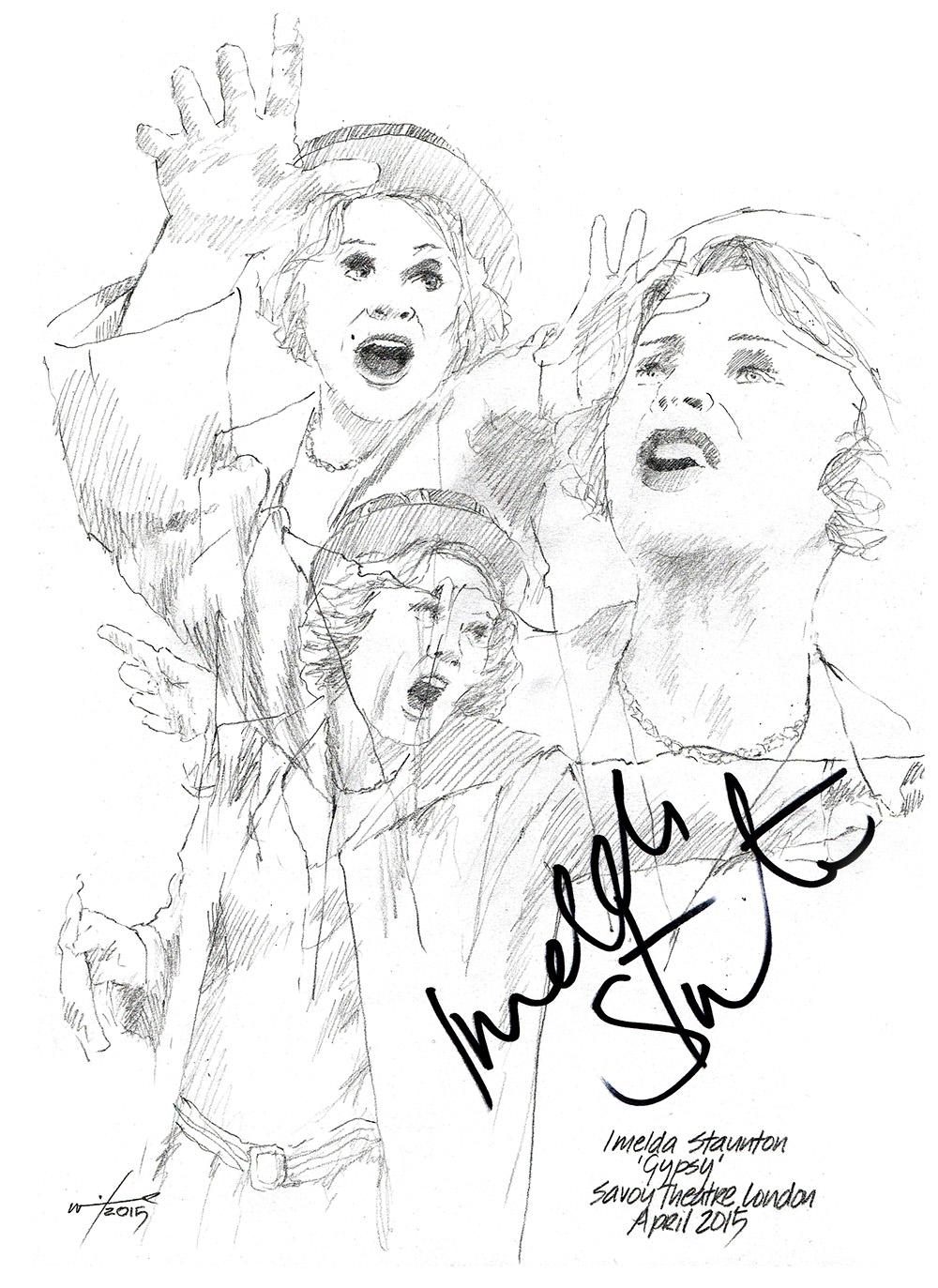 1000x1373 Sketch Imelda Staunton In Gypsy Chicanepictures