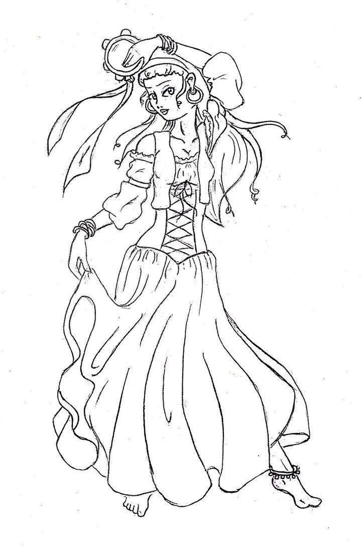 723x1104 Gypsy Line Art By Miaka21