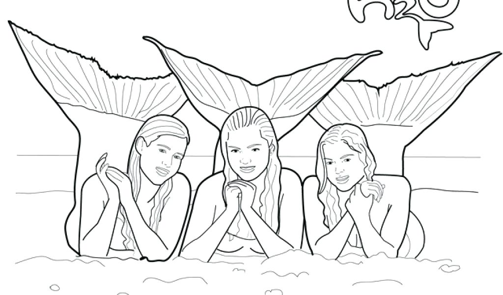 1024x600 Epic H2o Mermaid Coloring Pages 99 On Online With