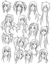 201x251 Anime Hair Sketches 2 Drawingspaintings Hair