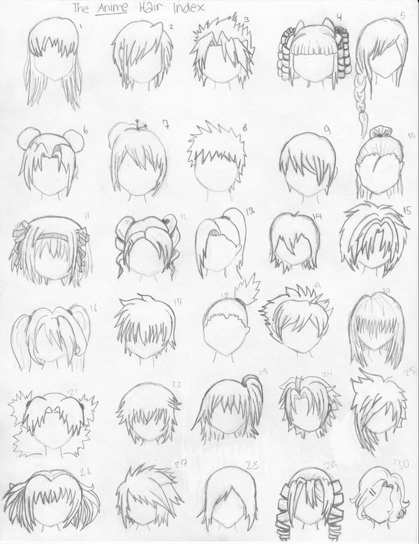 600x778 How To Draw Anime Hair (Part 1) By Tanyaelric