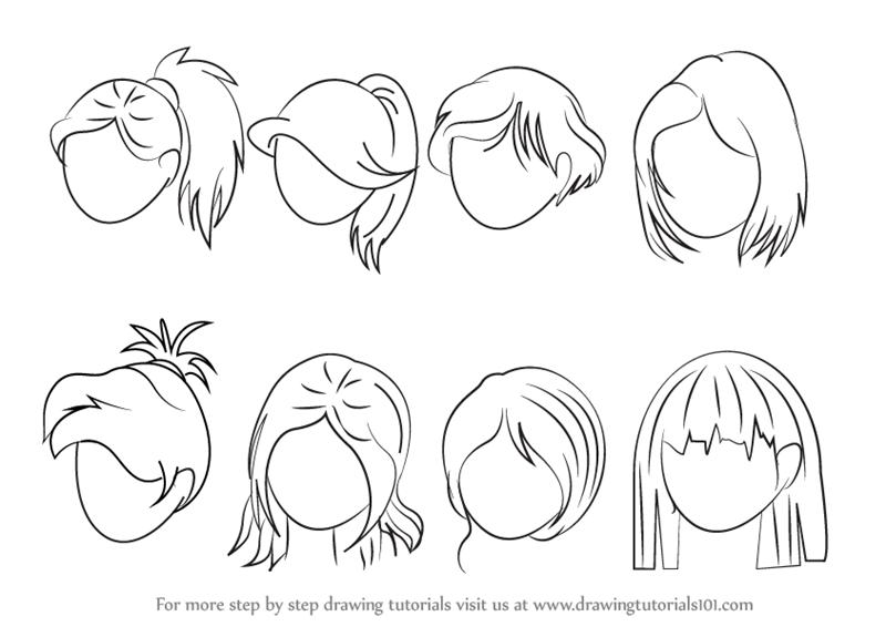 800x566 Learn How To Draw Anime Hair