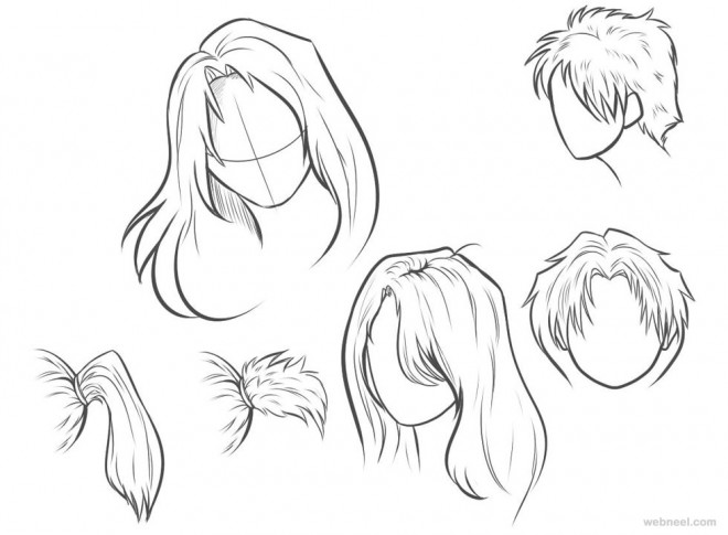 660x485 Draw Anime Hair 24