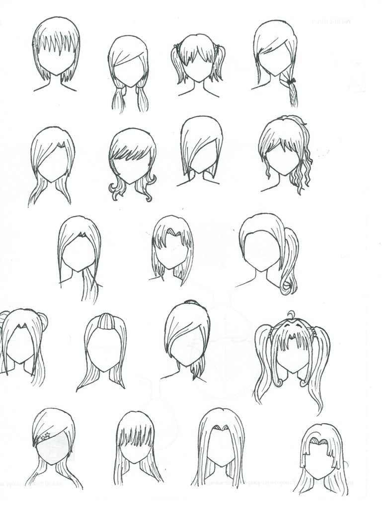 Easy Anime Drawings Of Hair