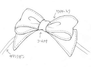 320x240 Hair Bow Drawings