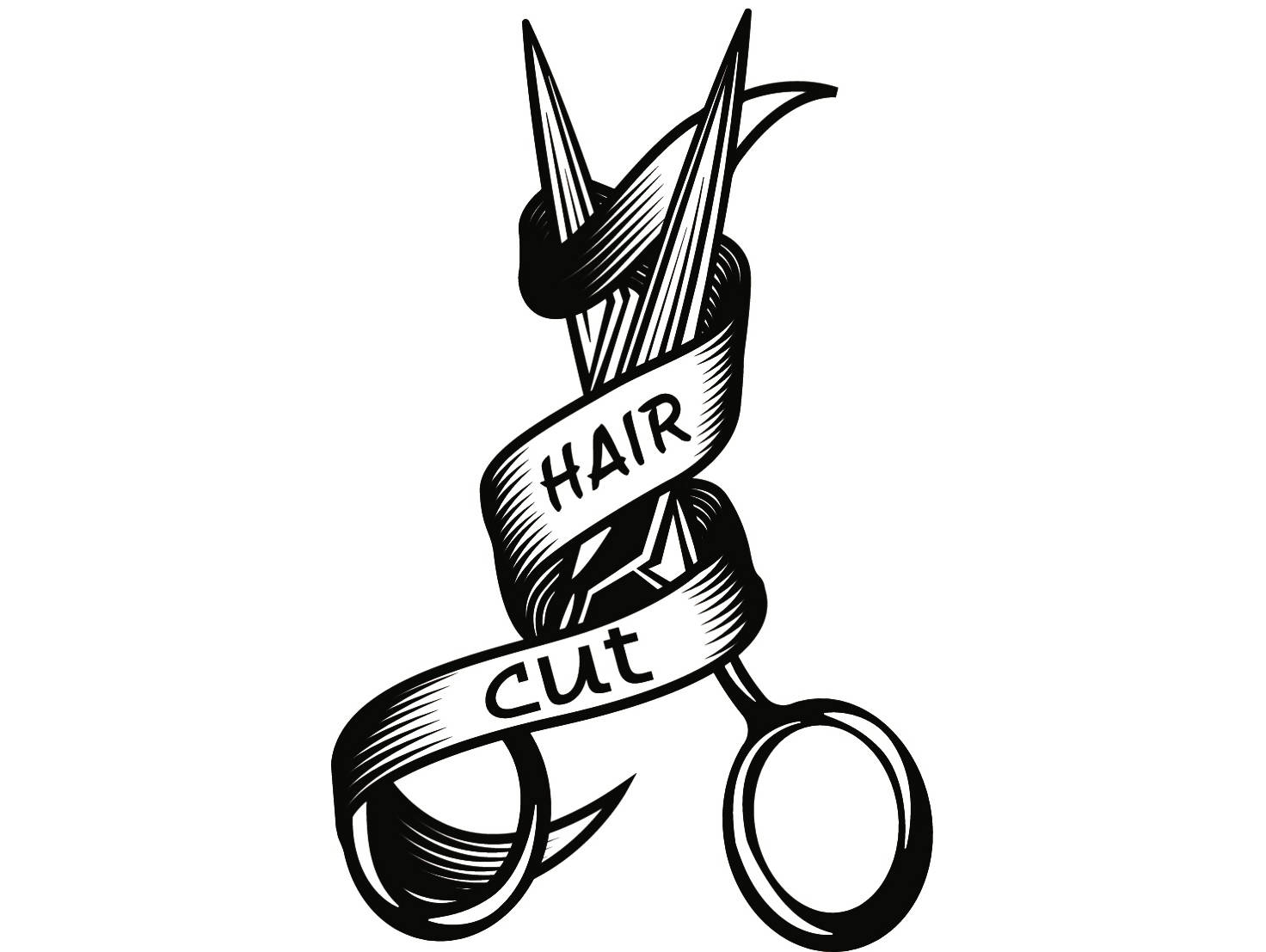 1472x1107 Hairstylist Logo 3 Scissors Salon Barber Shop Haircut Hair