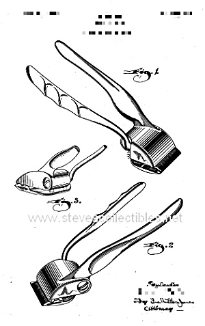 300x477 Patent Art 1940s Hair Clippers