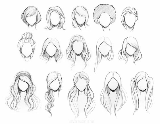 563x435 Draw Realistic Hair Drawing Hairstyles, Drawings And Anime