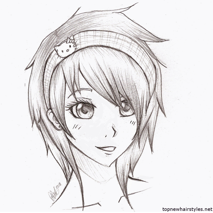 900x900 Easy Anime Girl Drawing