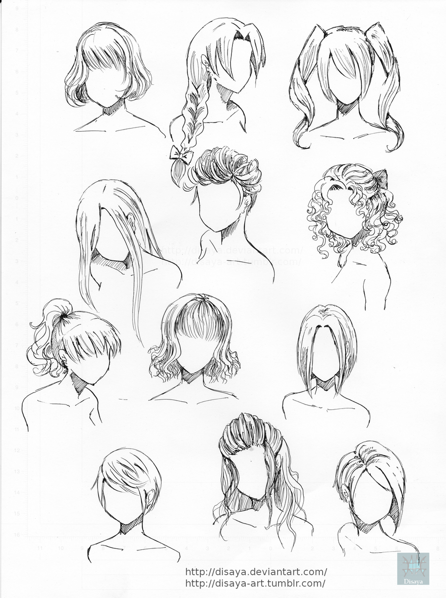 900x1205 Hair Reference 2 By Disaya Draw Hair For Your Characters