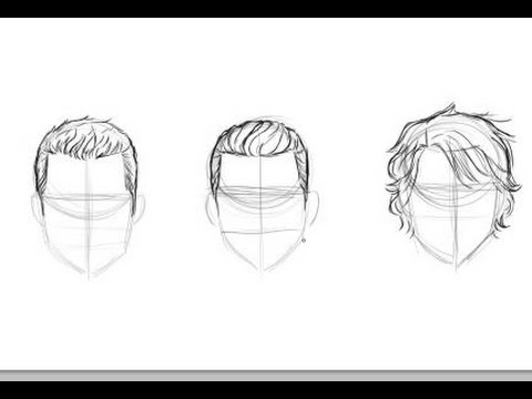 480x360 How To Draw Men's Hair