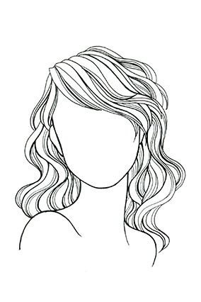 Hair Line Drawing