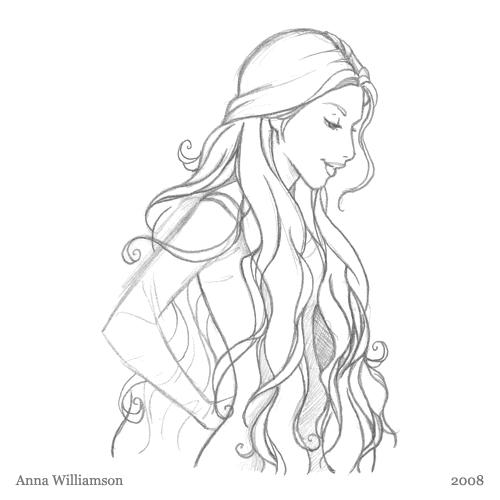 500x500 Pencil Sketch Hair Anna Williamson
