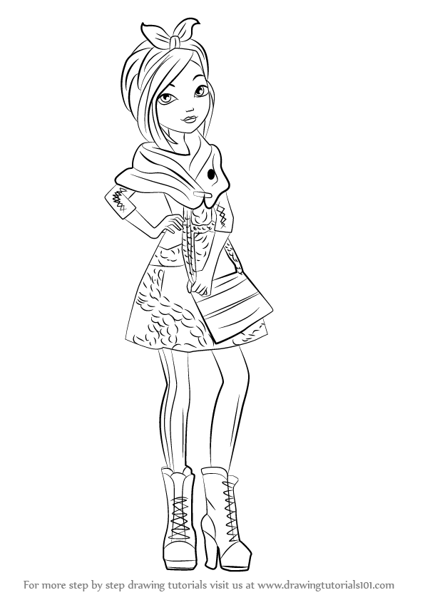 596x842 Learn How To Draw Poppy O'Hair From Ever After High (Ever After