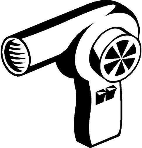 486x504 Hair Dryer Vinyl Decal Car Truck Window Sticker Ebay
