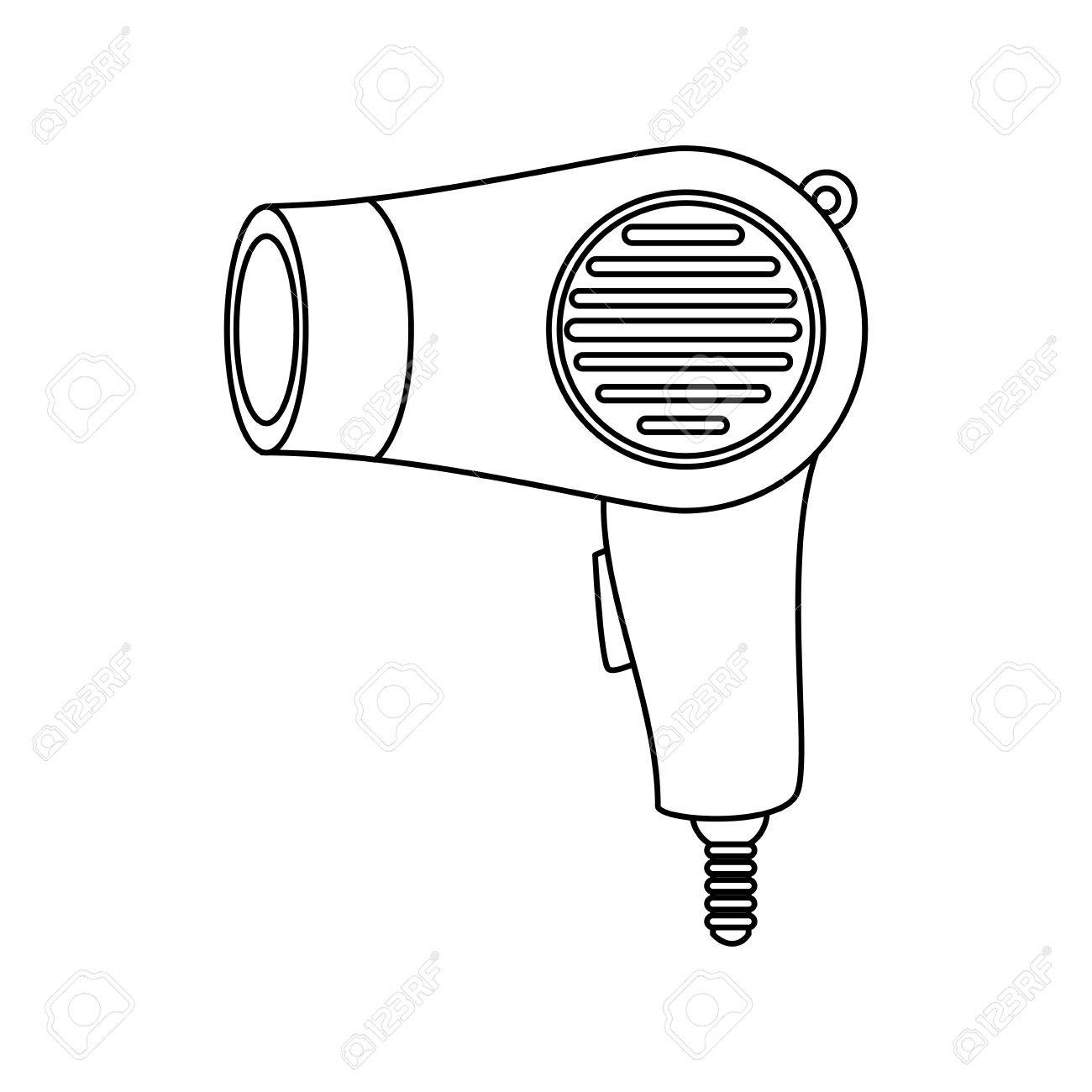 1300x1300 Hairdryer Salon Royalty Free Cliparts, Vectors, And Stock