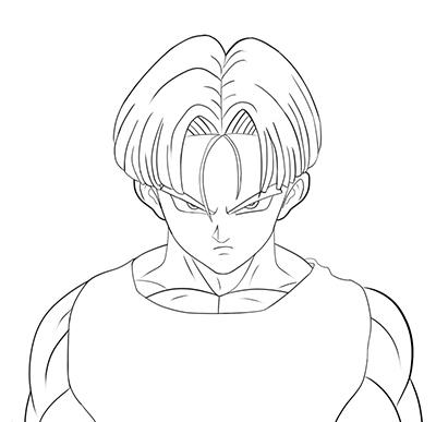 400x387 How To Draw Trunks From Dragon Ball Z (Dbz)