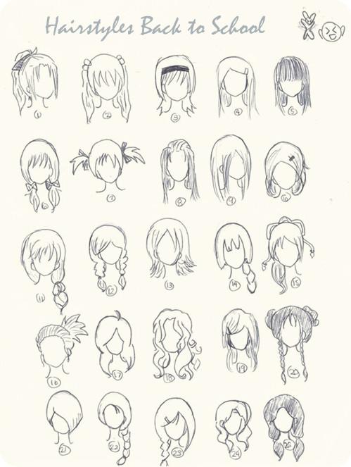 499x663 Drawn Ponytail Cute Hair