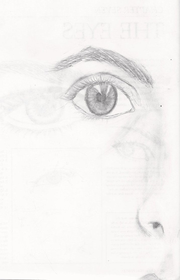 717x1113 Half Of My Face Sketch By Withalittleluck
