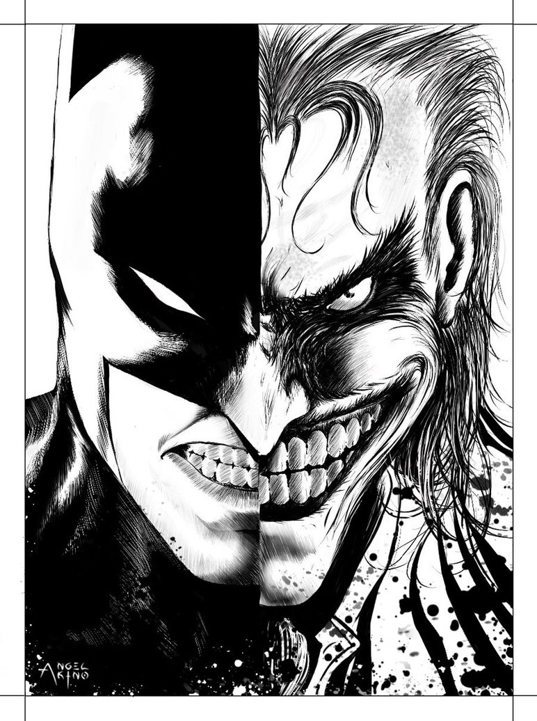 772x1036 Batman X Joker By Angel Akino