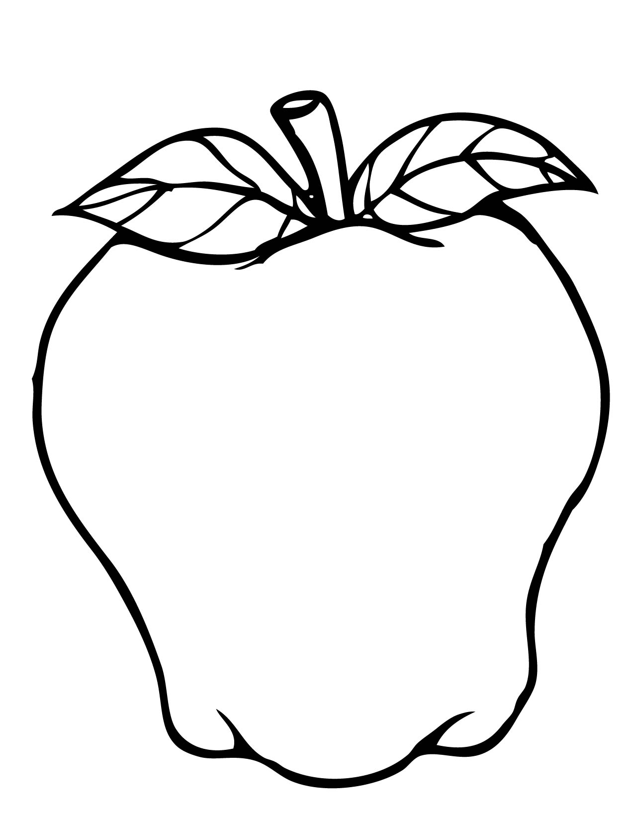 1275x1650 Apple Coloring Pages The Sun Flower