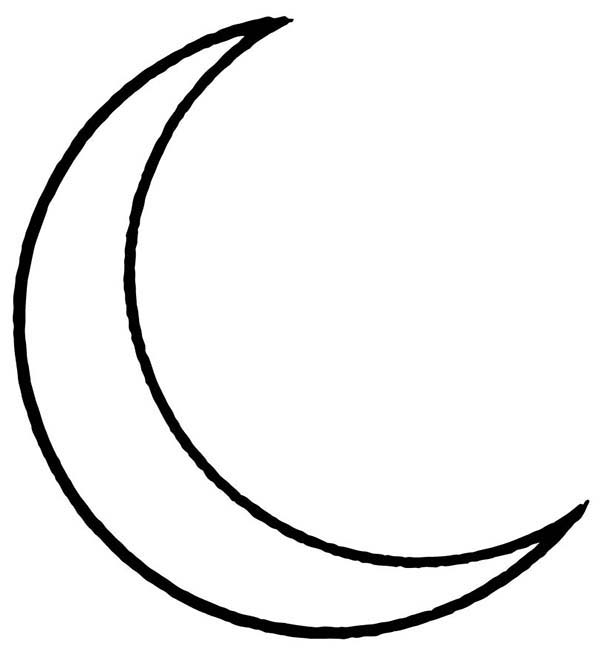 Half moon drawing at free for personal for Half moon coloring pages