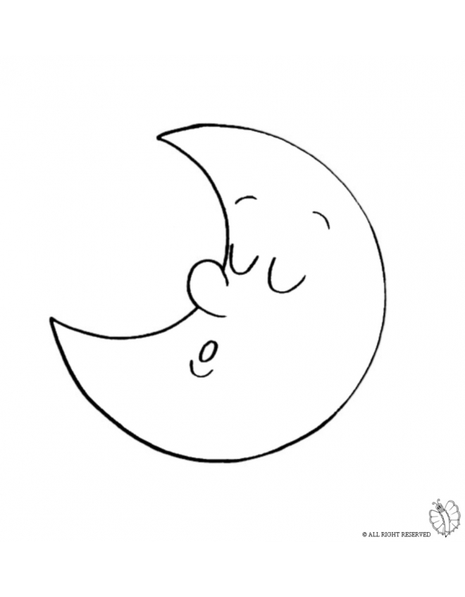 660x847 Print Half Moon For Coloring