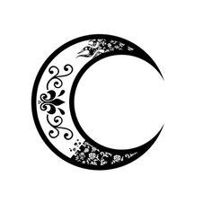236x236 Crescent Moon Drawing