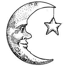 233x216 Crescent Moon Face