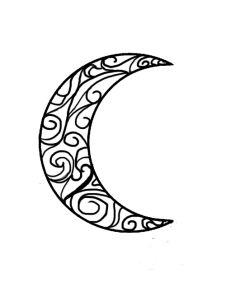 226x300 Tribal Moon Tattoo Half Moon Tattoo Moon Tattoos Tribal Tattoos