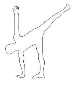 247x294 Become Balanced Through Half Moon Pose Sathiya Yoga