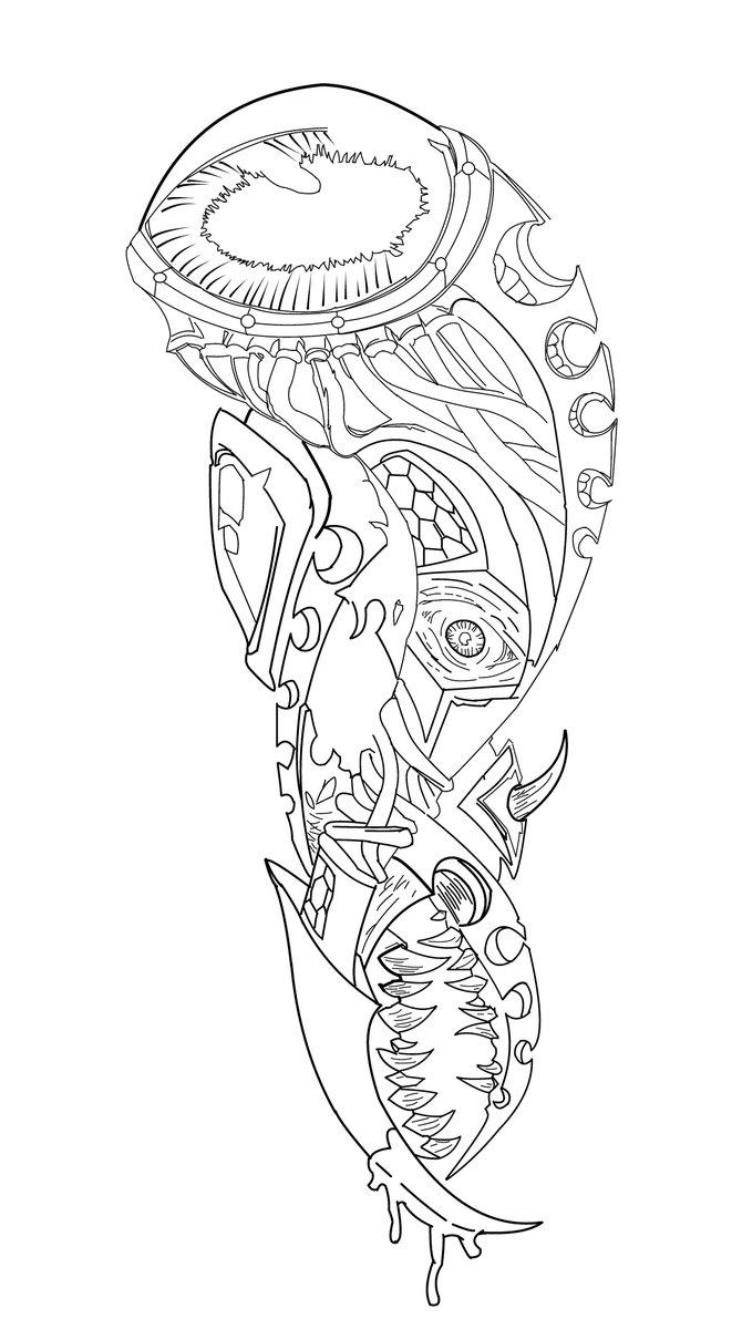 670x1191 Koi Fish Half Sleeve Tattoo Designs Drawings Half Sleeve Tattoo