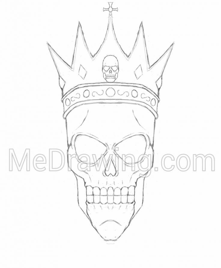 Half Skeleton Face Drawing