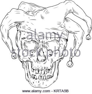 313x320 Vector Illustration Of Joker Skull Stock Vector Art Amp Illustration