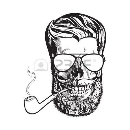 Half Skull Face Drawing