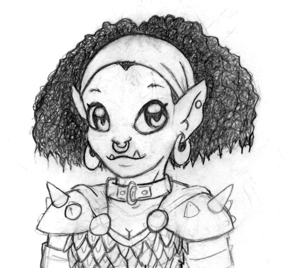 583x543 Cute Half Orc By Deltethnia