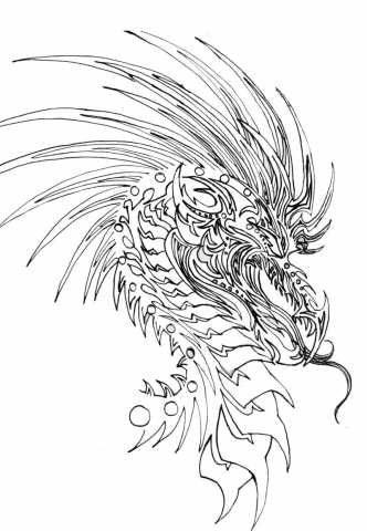 332x480 Half Sleeve Dragon Tattoo Drawing Ideas